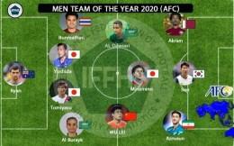 武磊入選年度亞洲最佳陣容