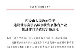 西安市政府發布重磅文件,力爭2035年建成世界賽事名城